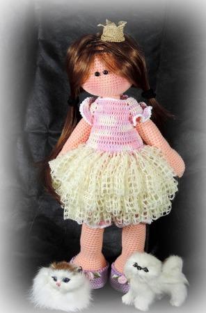 """Крючковый Мастер-класс """" Кукла принцесса Зефирка"""" ручной работы на заказ"""