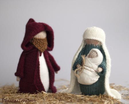 """Мастер-класс """"Рождество. Мария, Иосиф и младенец"""" ручной работы на заказ"""