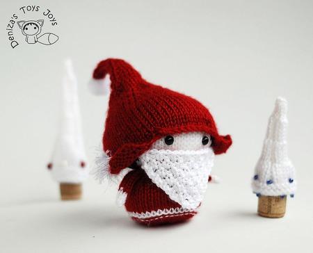 """Мастер-класс """"Маленькая куколка Санта со съемной бородой"""" ручной работы на заказ"""