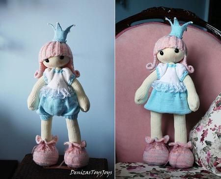 """Мастер-класс """" Кукла Застенчивая Принцесса."""" ручной работы на заказ"""