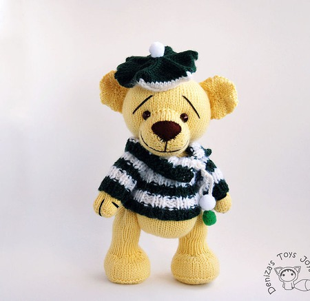 "Мастер-класс ""Мишка Yellow Teddy Bear "" ручной работы на заказ"