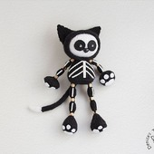 "Мастер-класс ""Черный кот Скелетон"""