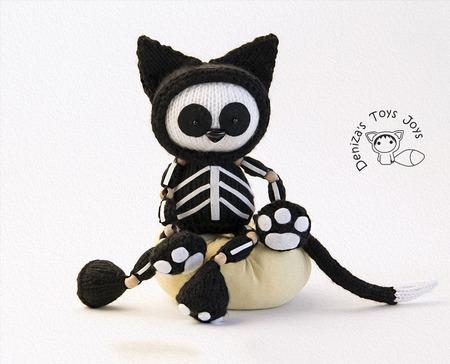 """Мастер-класс """"Черный кот Скелетон"""" ручной работы на заказ"""