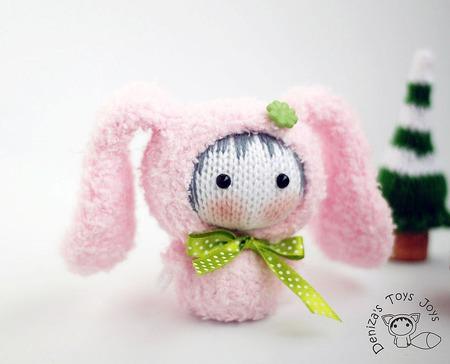 """Мастер-класс """"Маленькая куколка Розовая Зайка из серии Tanoshi"""" ручной работы на заказ"""