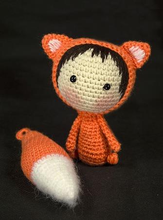 """Крючковый Мастер-класс """"Маленькая куколка Лисичка из серии Tanoshi"""" ручной работы на заказ"""