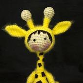 """Крючковый Мастер-класс """"Маленькая куколка Жираф из серии Tanoshi"""""""
