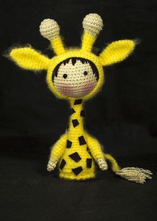 """Крючковый Мастер-класс """"Маленькая куколка Жираф из серии Tanoshi"""" ручной работы на заказ"""