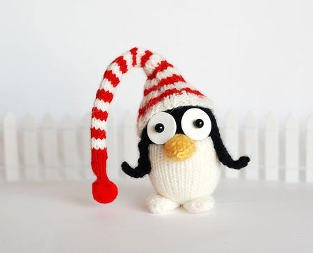 """Мастер-класс """"Новогодний Пингвинчик в Полосатой шапке"""" ручной работы на заказ"""