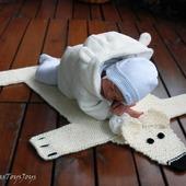 """Мастер-класс """"Детский коврик для новорожденного малыша Шкура Медведя2"""""""