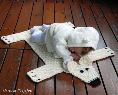"""Мастер-класс """"Детский коврик для новорожденного малыша Шкура Медведя2"""" ручной работы на заказ"""