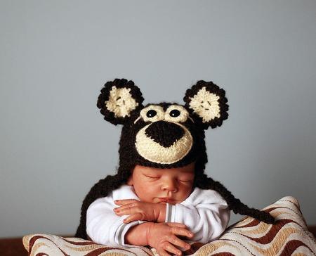 """Мастер класс """"Шапочка - Мишка для новорожденного"""" ручной работы на заказ"""