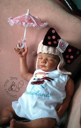 """Мастер класс """"Шапочка-парик с бантиком для новорожденной девочки"""" ручной работы на заказ"""