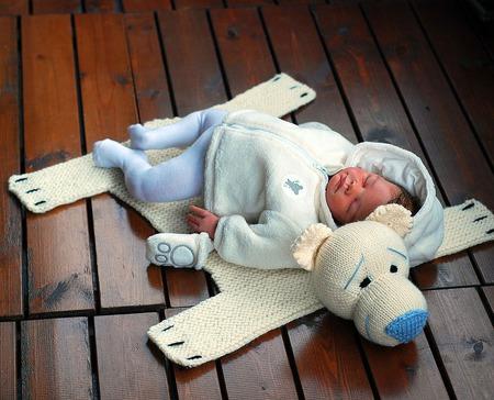 """Мастер-класс """"Детский коврик для новорожденного малыша Шкура Медведя"""" ручной работы на заказ"""