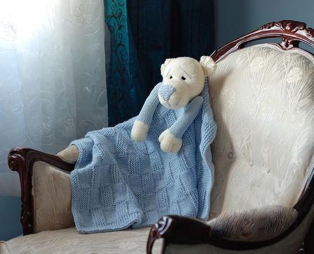 """Мастер-класс """"Детское одеялко с Игрушкой Мишкой"""" ручной работы на заказ"""