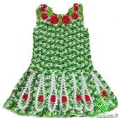 """Схема вязания сарафана для девочки """"Аленький цветочек"""""""