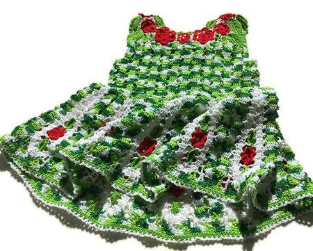 """Схема вязания сарафана для девочки """"Аленький цветочек"""" ручной работы на заказ"""