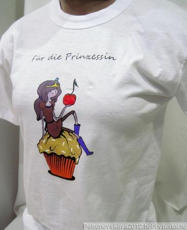 "Футболка ""Princess Bubblegum"" ручной работы на заказ"