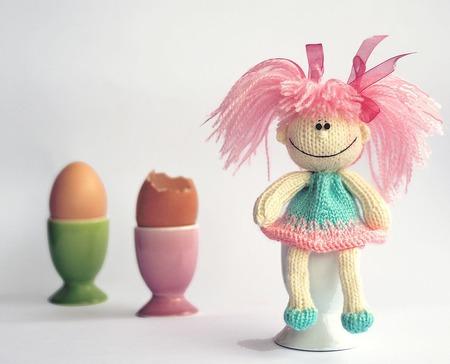 "Мастер-класс ""Насадка на яичко: Весёлая куколка"" ручной работы на заказ"