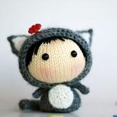 """Мастер-класс """"Маленькая куколка Серая Кошка из серии Tanoshi"""""""