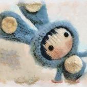 "Мастер-класс ""Маленькая куколка Голубой Зайка из серии Tanoshi"""