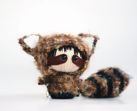 """Мастер-класс """"Маленькая куколка Енот из серии Tanoshi."""" ручной работы на заказ"""