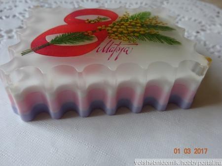 Подарочное мыло ручной работы 8 Марта ручной работы на заказ
