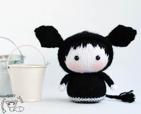 """Мастер-класс """"Маленькая куколка коровка Лекси из серии Tanoshi"""" ручной работы на заказ"""