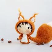 "Мастер-класс ""Маленькая куколка Рыжая Белка из серии Tanoshi"""