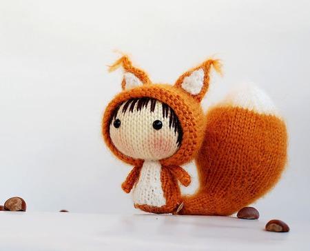 """Мастер-класс """"Маленькая куколка Рыжая Белка из серии Tanoshi"""" ручной работы на заказ"""