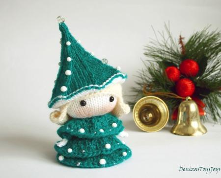 """Мастер-класс """"Маленькая куколка в костюме ёлки из серии Tanoshi"""" ручной работы на заказ"""