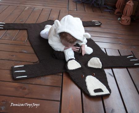 """Мастер-класс """"Детский коврик для новорожденного малыша Шкура Медведя3"""" ручной работы на заказ"""