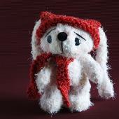 """Мастер-класс """"Белый заяц в красной шапке."""""""