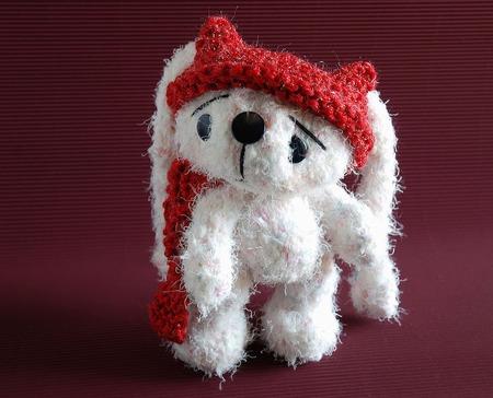 """Мастер-класс """"Белый заяц в красной шапке."""" ручной работы на заказ"""
