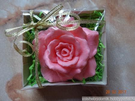 Мыло ручной работы Роза в подарочной упаковке ручной работы на заказ