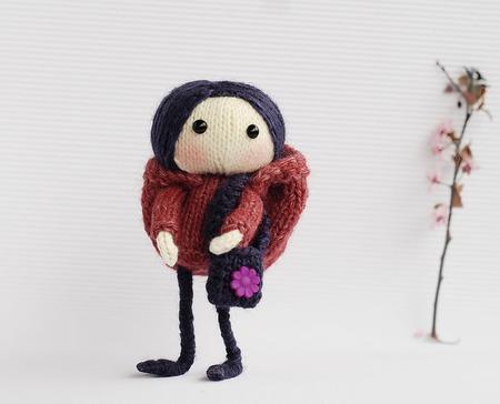 """Мастер-класс """"Куколка Фиолетовая Виола """" ручной работы на заказ"""