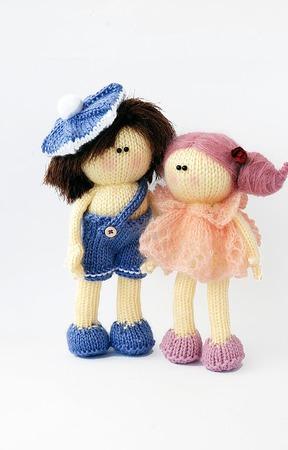 """Мастер-класс """"Ванильно-розовая куколка и мальчик в берете"""" ручной работы на заказ"""