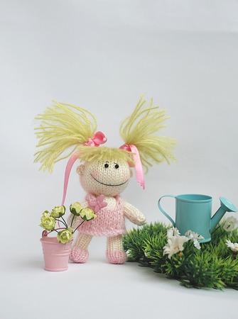 """Мастер-класс """"Маленькая смешная садовница в розовом платьице"""" ручной работы на заказ"""