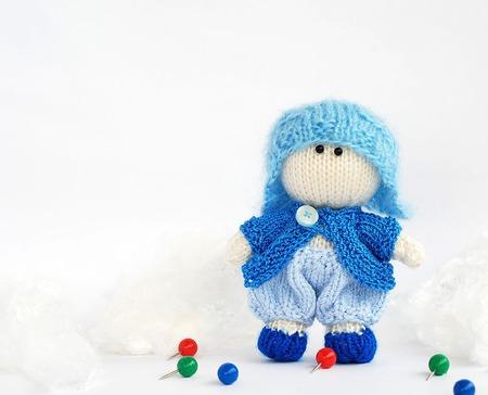 """Мастер-класс """"Маленький мальчик в голубой шапке"""" ручной работы на заказ"""