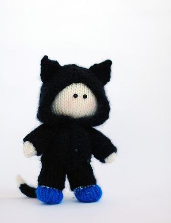 """Мастер-класс """"Маленький мальчик в костюме котенка"""" ручной работы на заказ"""