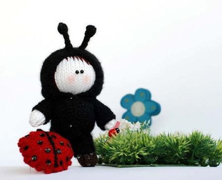 """Мастер-класс """"Маленькая куколка в костюме божьей коровки"""". ручной работы на заказ"""