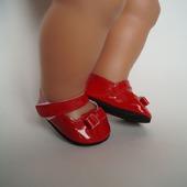Красные туфельки для кукол беби борн (baby born)