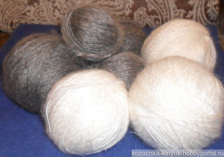 Пуховая пряжа (козий пух урюпинский) ручной работы на заказ