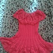 Платье красное для девочки