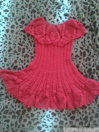 Платье красное для девочки ручной работы на заказ