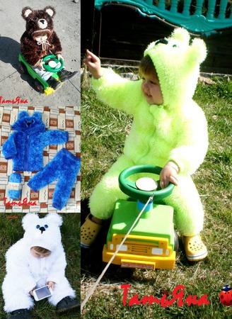 Детский  вязаный костюмчик из травки ручной работы на заказ