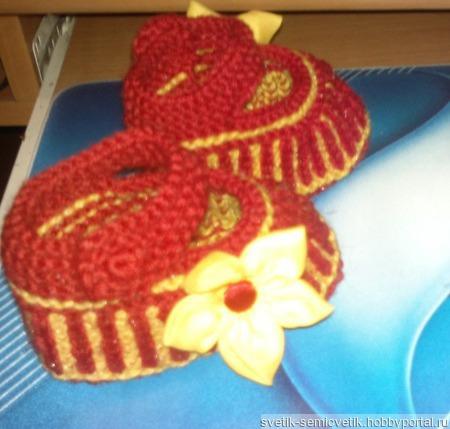 Пинетки для девочки (распродажа -платье к нему отдельно есть) ручной работы на заказ