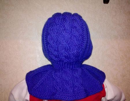 Детский комплект: шапка-шлем, шарф и варежки ручной работы на заказ