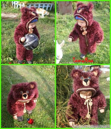 """Комбинезон """"Умка"""" и костюм детский вязаный из пряжи травка ручной работы на заказ"""