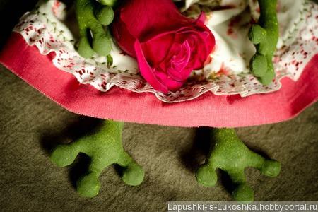 Текстильная лягушка Марта ручной работы на заказ