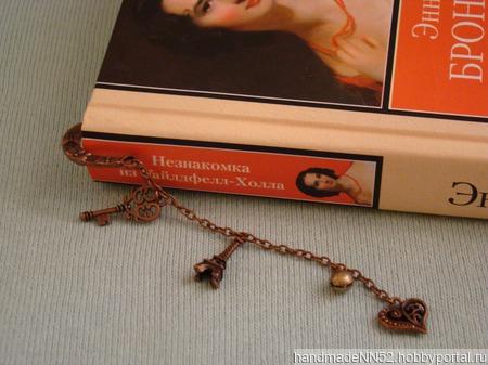 """Закладка для книг """"Романтика"""" ручной работы на заказ"""